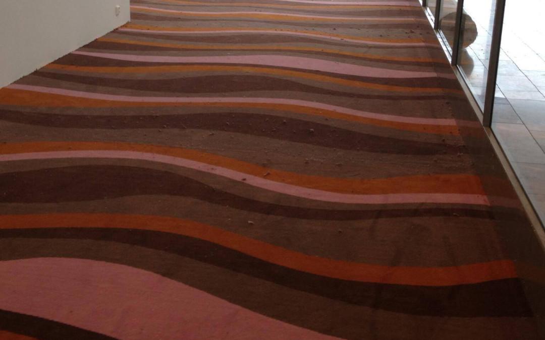 EGE-mattor med galna mönster på kontor